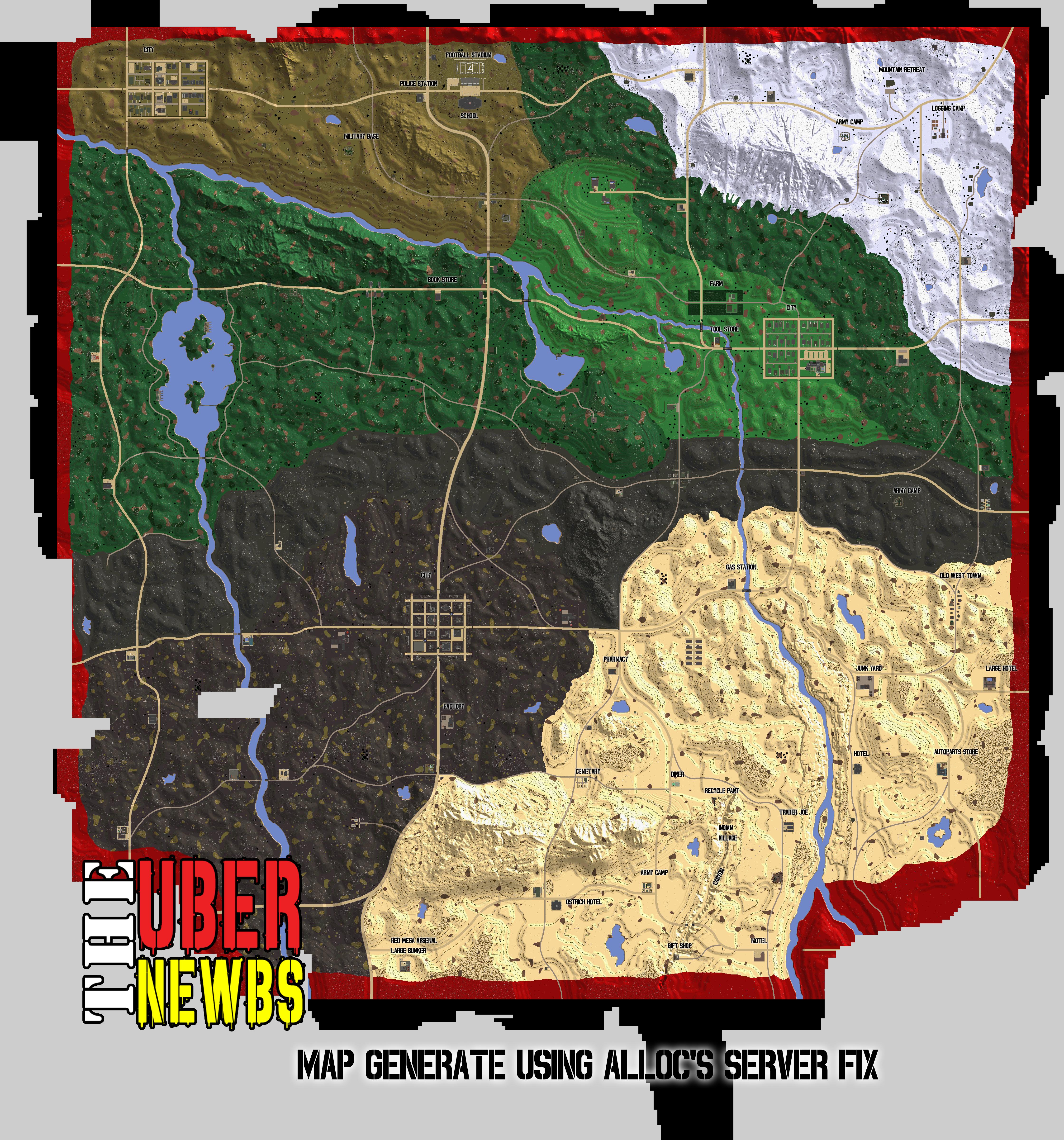 Map 7 Days To Die.7 Days To Die Navezgane Map The Uber Newbs